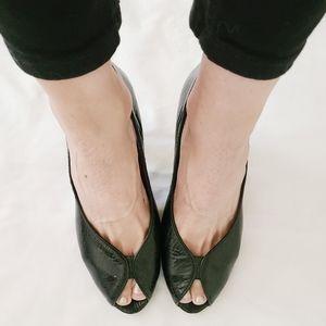 Marc by Marc Jacob's Black Peep Toe Heels, EUR 40.5